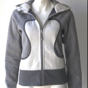 Lululemon gray and white scuba hoodie